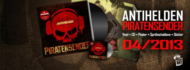 Antihelden - Piratensender Album Cover Promo