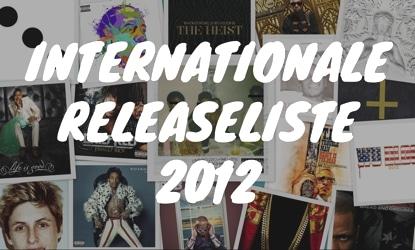 Internationale Releaseliste 2012