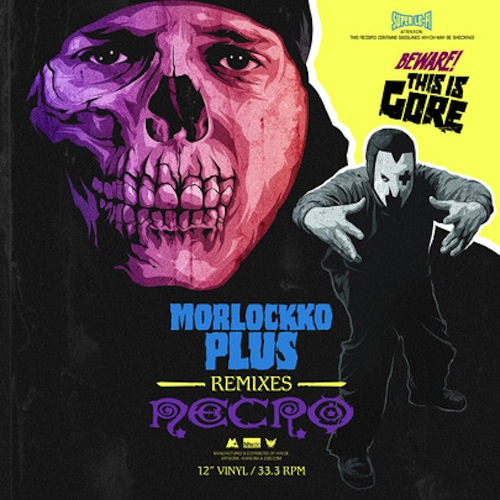 Morlockk Dilemma & Necro – Morlockko Plus remixes Necro Album Cover