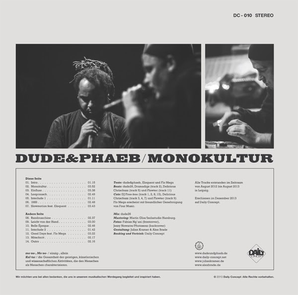 dude & phaeb – Monokultur Album Cover