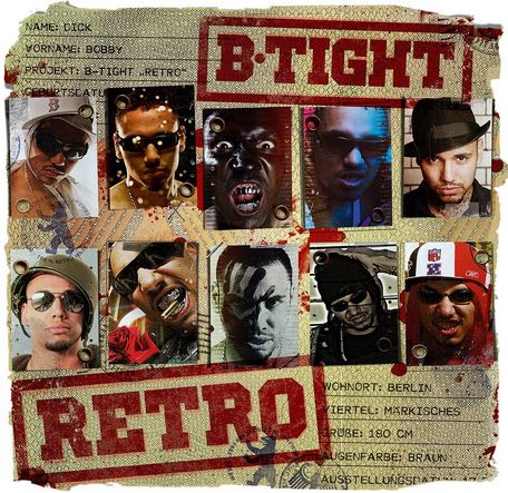 B-Tight - Retro Album Cover