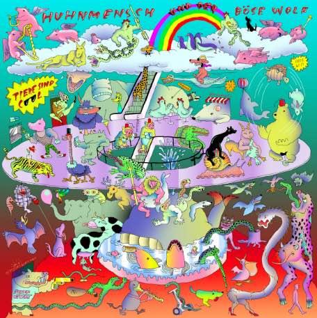 Huhnmensch & der böse Wolf – Tiere sind Cool EP Album Cover