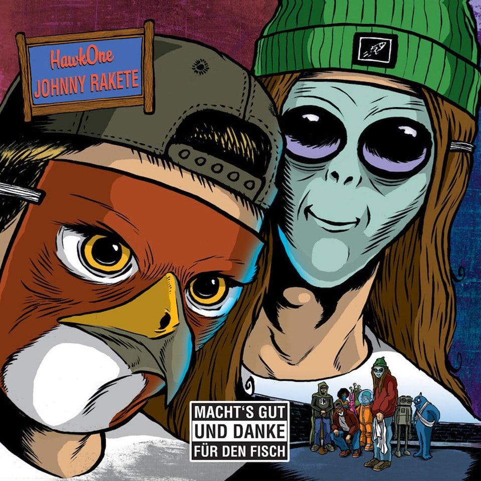 Johnny Rakete & HawkOne – Macht's gut und Danke für den Fisch Album Cover