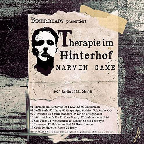 Marvin Game – Therapie im Hinterhof Album Cover